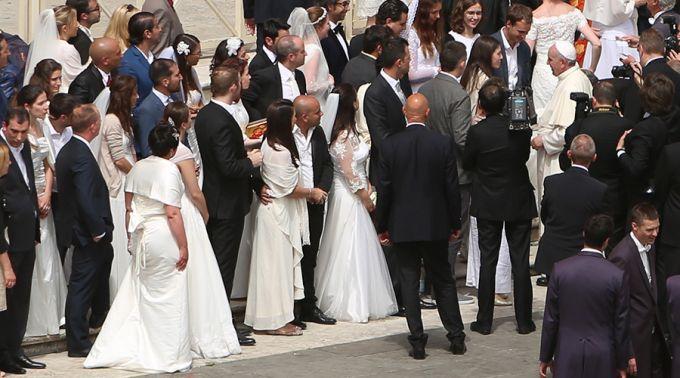 La Audiencia del Papa a los que van a Casarse
